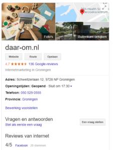 daar-om.nl | google mijn bedrijf