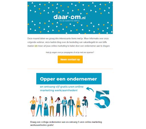 voorbeeld nieuwsbrief daar-om.nl